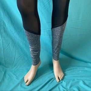FOREVER 21 GREY ATHLETIC LEGGINGS with MESH